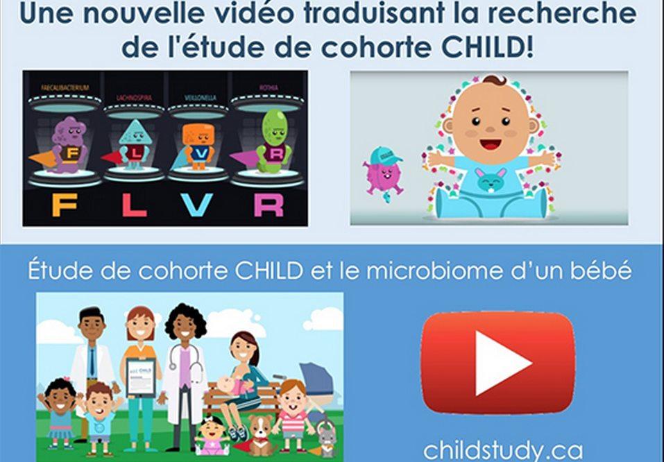 Résultats de l'étude de cohorte CHILD sur le microbiome