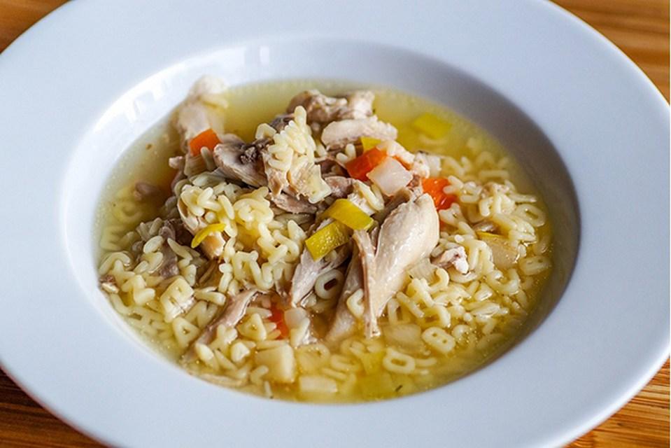 Recette de soupe poulet et nouilles