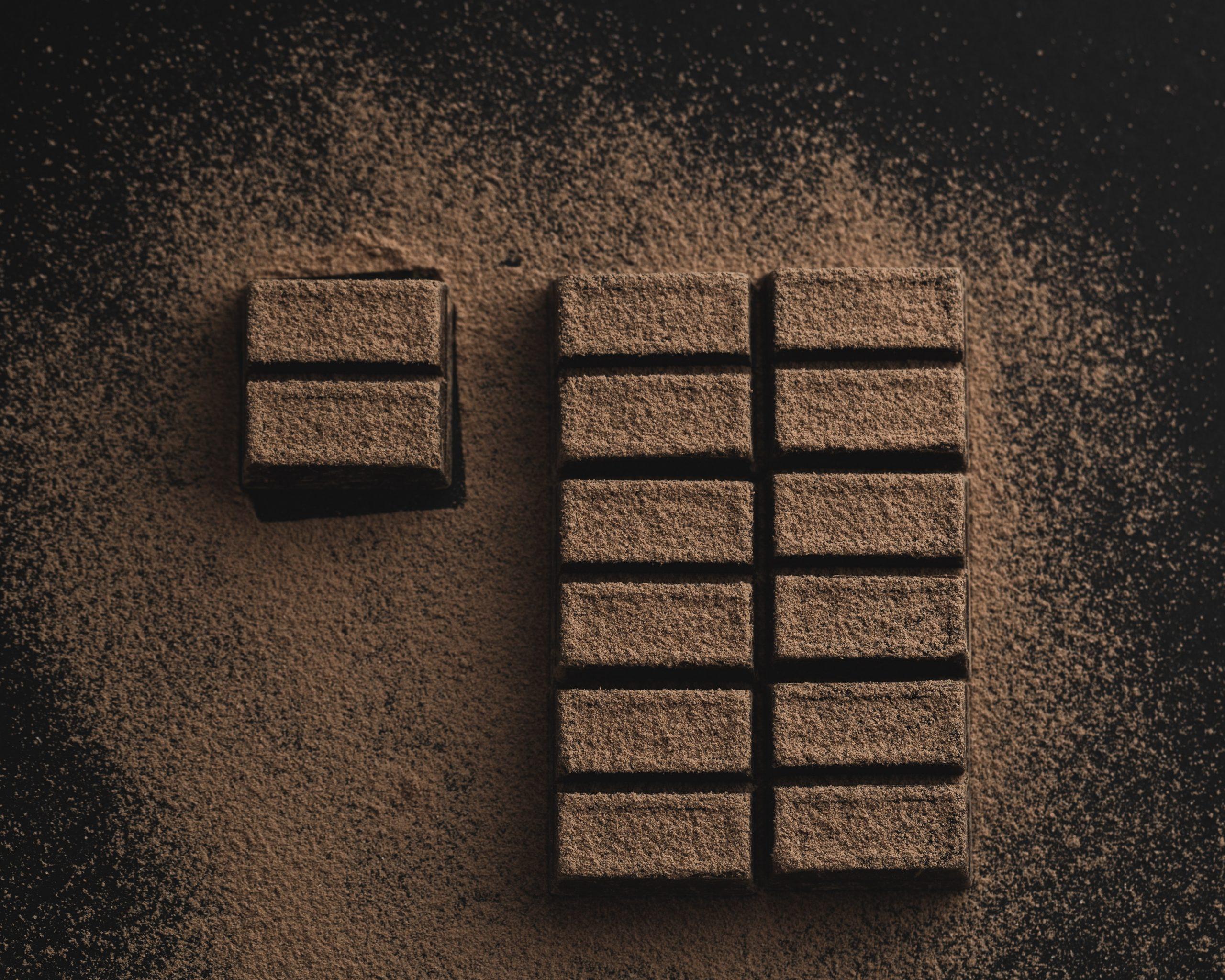 Sondage sur la consommation de chocolat avec une mention de type « peut contenir... »