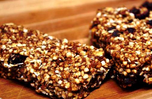 Recette de barres protéinées chocolat canneberges